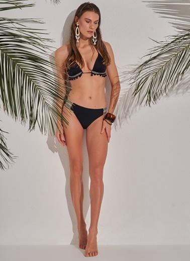 Morhipo Beach Ponpon Detaylı Bikini Siyah